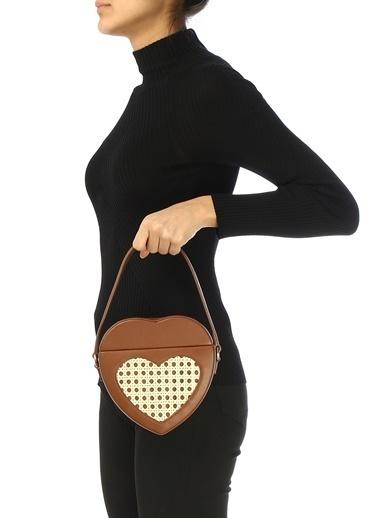 Mehry Mu Mehry Mu  Kalp Formlu Kadın El Çantası 101507088 Taba